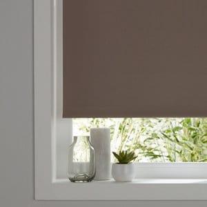 Boreas Corded Light brown Plain Blackout Roller Blind (W)60cm (L)180cm
