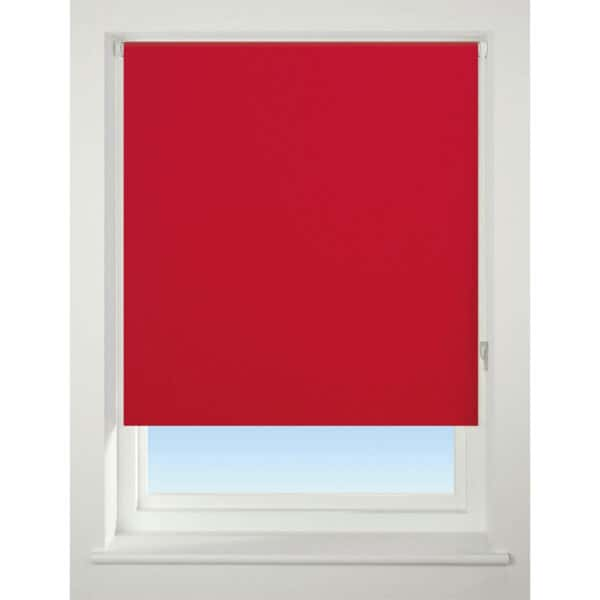 Bright Red Blackout Roller Blind - 180cm