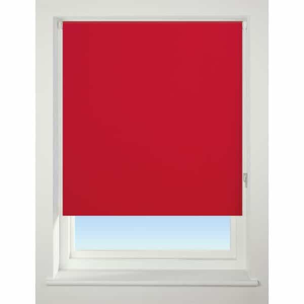 Bright Red Blackout Roller Blind - 90cm