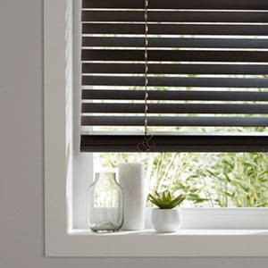 Cana Dark brown Basswood Venetian Blind (W)180cm (L)180cm