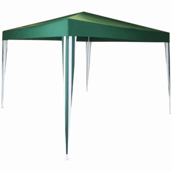 Charles Bentley Easy Assemble Gazebo Green Stripe 3 x 3m Metal