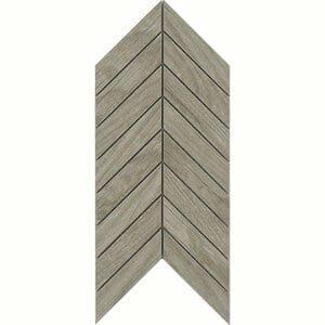 Chevron mosaic Beige Matt Wood effect Porcelain Wall & floor tile (L)300mm (W)155mm