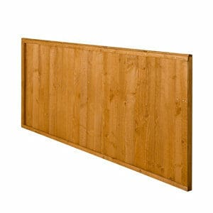 Closeboard Dip treated Fence panel (W)1.83m (H)0.91m Pack of 3