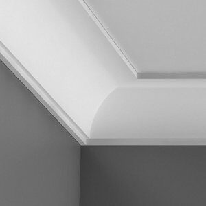 Colours Antioch Contemporary C-shaped Duropolymer Internal Coving corner (L)250mm (W)44mm Pack of 2