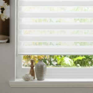 Colours Day & Night Corded White Roller Blind (L)160cm (W)60cm