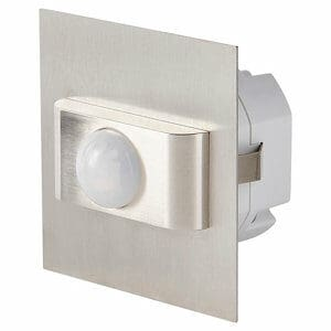 Colours Hayden Silver Silver effect Mains-powered Floor lighting Motion sensor
