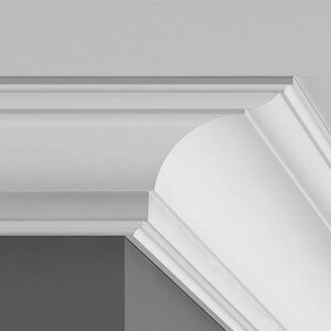 Colours Intonaco Heritage C-shaped Duropolymer External Coving corner (L)250mm (W)94mm Pack of 2