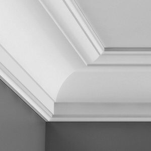 Colours Intonaco Heritage C-shaped Duropolymer Internal Coving corner (L)250mm (W)94mm Pack of 2