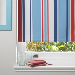 Colours Keel Corded Blue Red & White Roller Blind (L)160cm (W)180cm