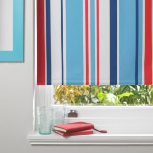 Colours Keel Corded Blue Red & White Roller Blind (L)160cm (W)90cm