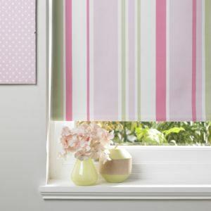 Colours Keel Corded Green Pink & White Roller Blind (L)160cm (W)90cm