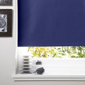 Colours Kona Corded Navy Blue Roller Blind (L)160cm (W)90cm