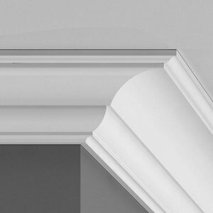Colours Montparnasse Authentic C-shaped Duropolymer External Coving corner (L)250mm (W)69mm Pack of 2