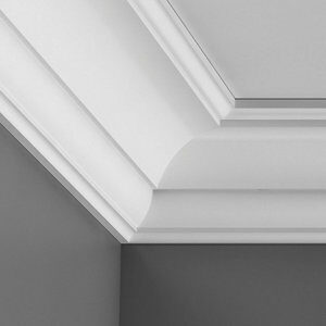 Colours Montparnasse Authentic C-shaped Duropolymer Internal Coving corner (L)250mm (W)69mm Pack of 2