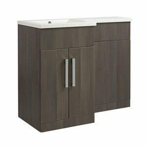 Cooke & Lewis Ardesio Bodega grey Woodgrain effect Vanity & toilet unit