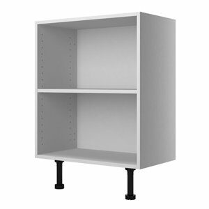 Cooke & Lewis Marletti Gloss White Double door Base Cabinet (W)600mm (H)852mm