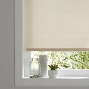 Corded Ivory Plain Roller Blind (W)120cm (L)160cm