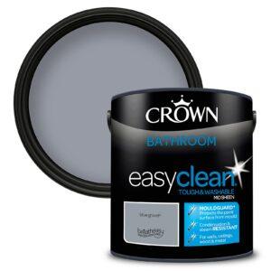 Crown Easyclean Bathroom Paint Blue Gravel 2.5L