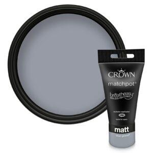 Crown Feature Wall Breatheasy Blue Gravel - Matt Emulsion Paint - 40ml