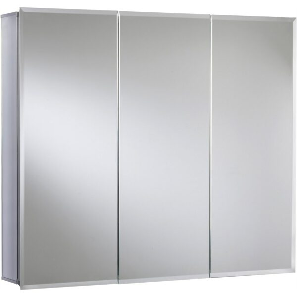 Croydex Kennet Triple Door Aluminium Bathroom Cabinet