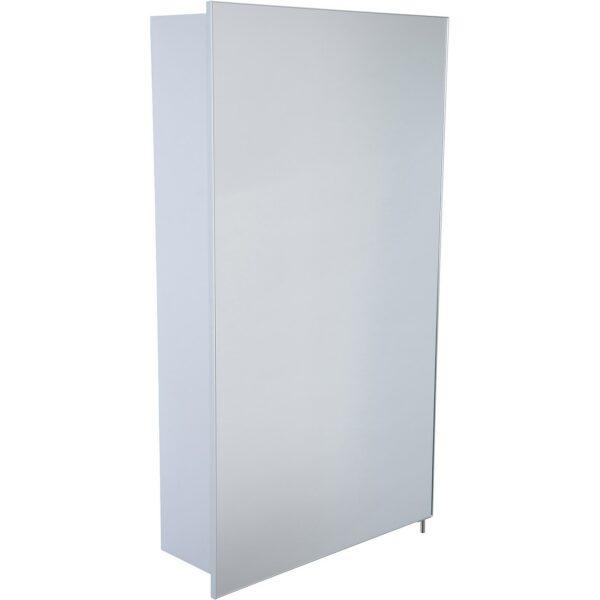 Croydex Maiford Single Door Illuminated Aluminium Bathroom Cabinet