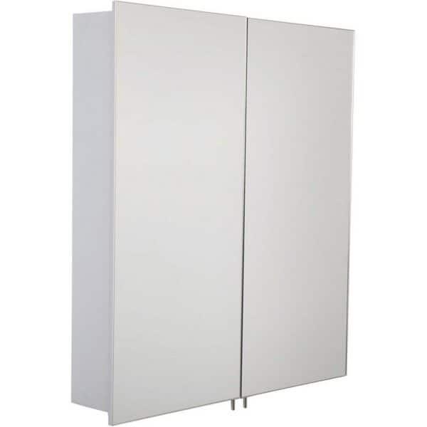 Croydex Warwick Double Door Illuminated Aluminium Bathroom Cabinet