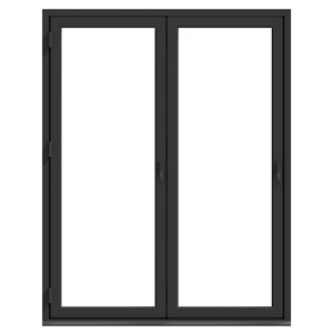 Crystal Clear Glazed Grey Aluminium LH External Folding Bi-fold Door set (H)2104mm (W)1804mm