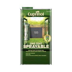 Cuprinol One coat sprayable Silver copse Matt Fence & shed Treatment 5L