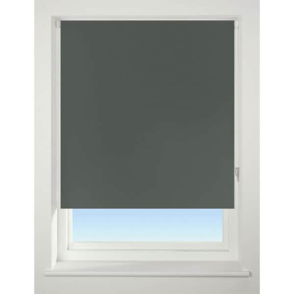 Dark Grey Blackout Roller Blind - 90cm
