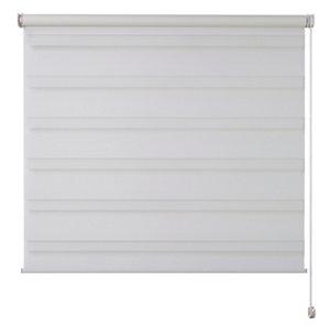 Elin Corded White Striped Day & night Roller Blind (W)90cm (L)180cm