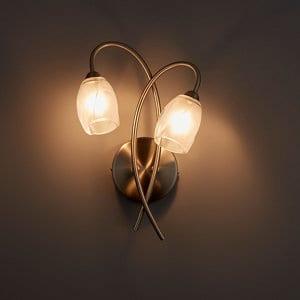 Forbes Satin Chrome effect Wall light