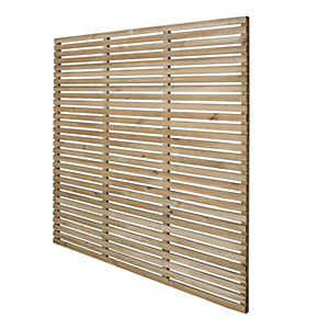 Forest 6 x 6ft Contemporary Single Slatted Fence Panel - Pack of 3