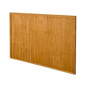 Forest Garden Closeboard Dip treated Fence panel (W)1.83m (H)1.22m Pack of 4