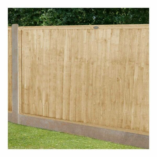 Forest Garden Closeboard Pressure Treated Fence Panel 6 x 4ft Mixed Softwood