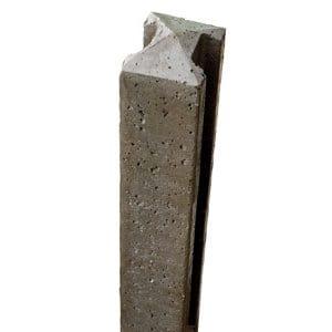 Forest Garden Concrete Fence post (H)2.36m (W)90mm