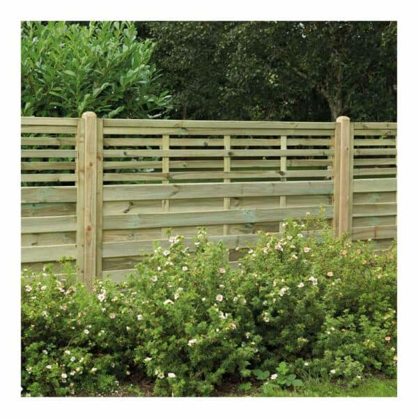 Forest Garden Decorative Kyoto Pressure Treated Fence Panel 6 x 5ft Mixed Softwood