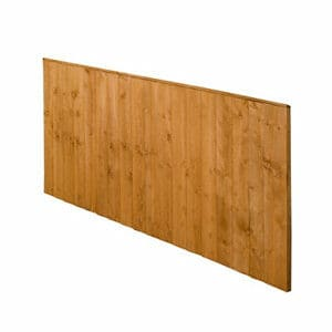 Forest Garden Dip treated Fence panel (W)1.83m (H)0.93m Pack of 4