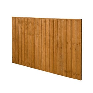 Forest Garden Dip treated Fence panel (W)1.83m (H)1.23m Pack of 3
