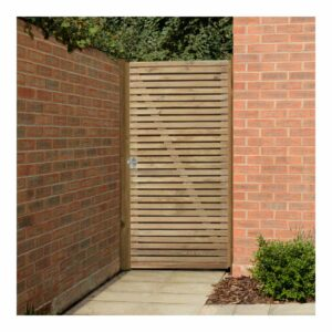 Forest Garden Double Slatted Gate 6ft (1.83m high) Wooden