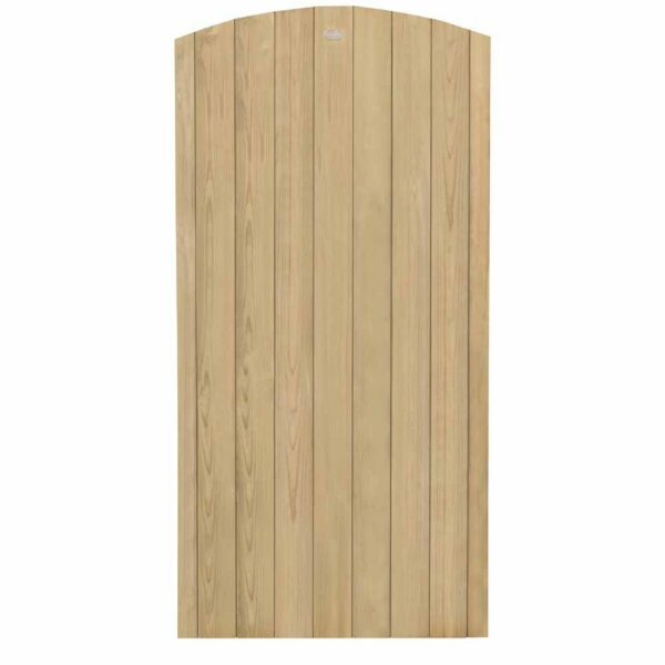 Forest Garden Forest 6ft Heavy Duty Dome Top Tongue & Groove Gate Wooden