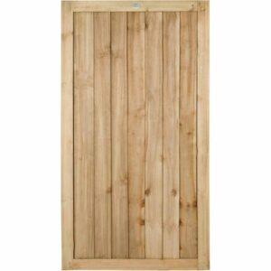 Forest Garden Forest 6ft Press Treat Feather Gate Wooden