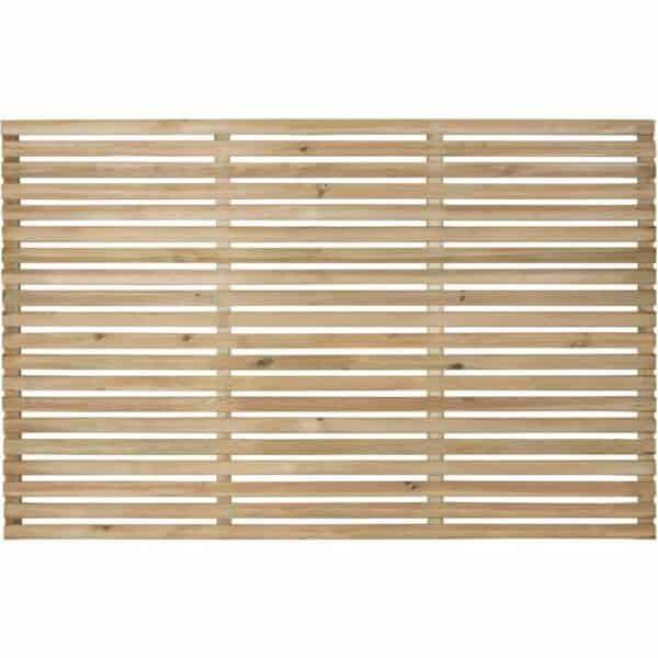 Forest Garden Forest Press Treat Slat Fence Panel 1.8x1.2m Wood
