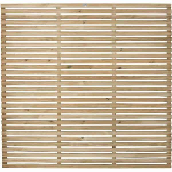 Forest Garden Forest Press Treat Slat Fence Panel 1.8x1.8m Wood