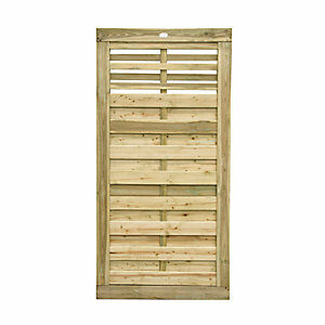 Forest Garden Kyoto Slatted Timber Gate - 900 x 1800 mm