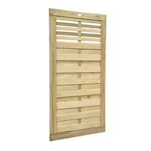 Forest Garden Kyoto Wood Slatted Gate (H)1.8m (W)0.9m