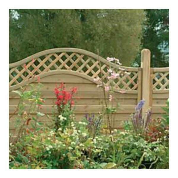 Forest Garden Pressure Treated Decorative Europa Prague Fence Panel 1.8m x 1.5m Mixed Softwood