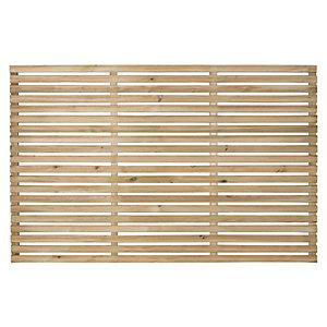Forest Garden Single Slatted Fence Panel 6 x 4 ft 4 Pack