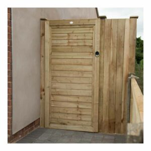 Forest Garden Square Lap Pressure Treated Gate 6ft (1.83m high) Wooden