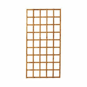 Forest Garden Traditional Square Dip treated Trellis panel (W)0.91m (H)1.83m