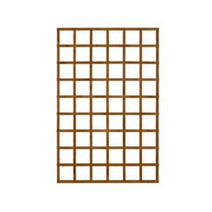 Forest Garden Traditional Square Dip treated Trellis panel (W)1.2m (H)1.83m